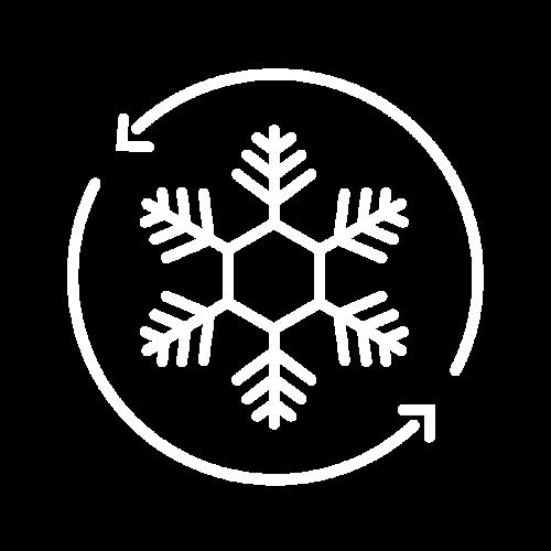 Weißes Icon für Klimaanlage