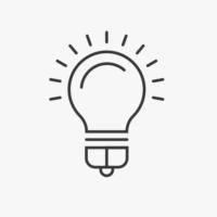 Icon leuchtende Glühbirne