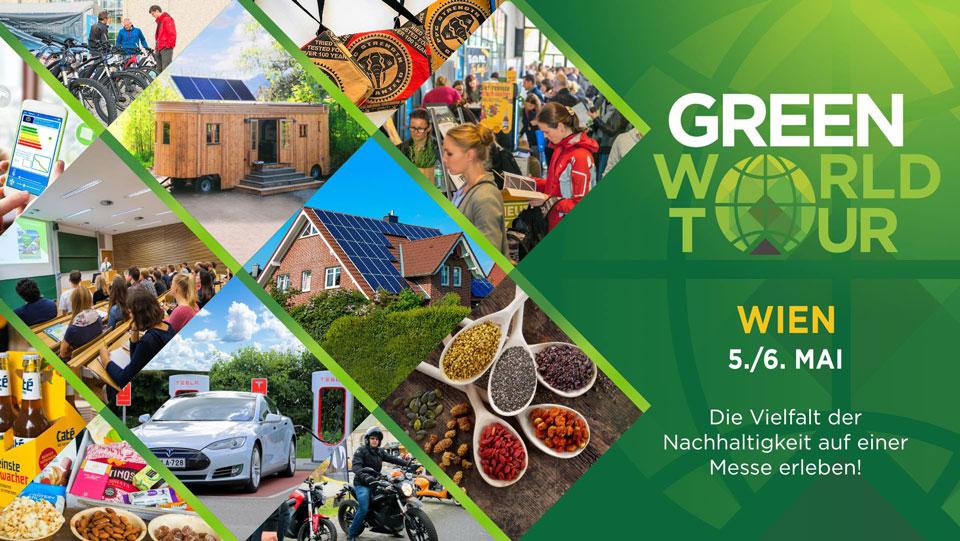 Offizielles Plakat der Green World Tour Wien