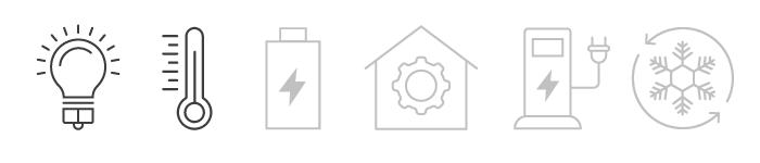 Icons für Strom und Wärme