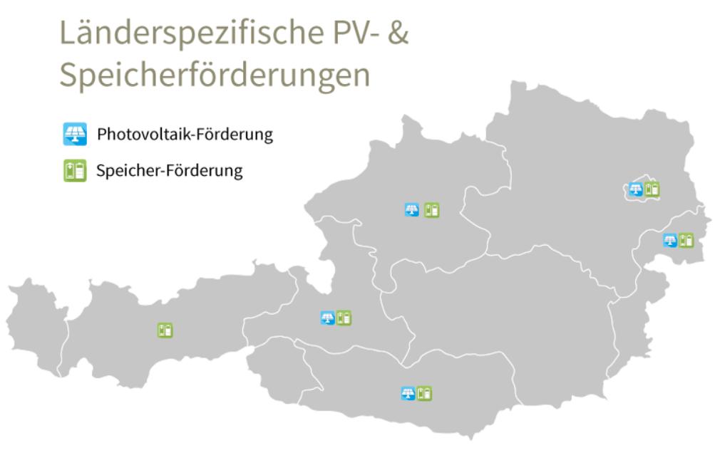 interaktive karte mit foerderungen fuer phorovoltaik in oesterreich